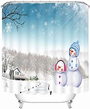 Aartoil Shower Curtain Christmas Decor, Polyester