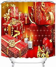 Aartoil Shower Curtain Christmas, Polyester box