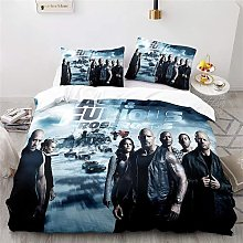 Aatensou 3D Cooler Fast and Furious Duvet Cover