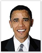Aawerzhonda Poster Artworks Obama Polygonal Wall