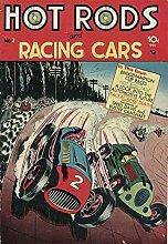 Aawerzhonda Poster Artworks Race Car Vintage Style