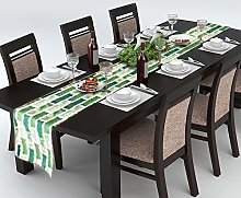 AAYU Green Table Runner Decorative Imitation Linen