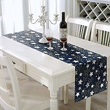 AAYU Star Print Table Runner polyester Linen 14 x