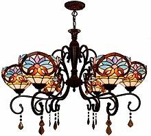 AAZX 6 Heads Chandelier,Tiffany Style Pendant Lamp