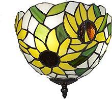 AAZX Tiffany Style Ceiling Fixture Lamp Semi Flush