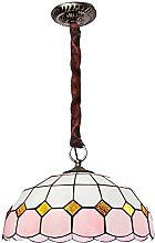 AAZX Tiffany Style Pendant Lamp 16 Inch Pink