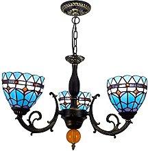AAZX Tiffany Style Pendant Light Shade, 3 Heads