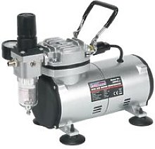 AB900 Mini Air Brush Compressor Quiet 120w Respray
