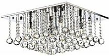 Abacus ceiling light crystal and polished chrome 5