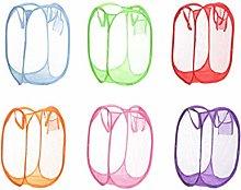 Abaimao 2pc Folded Storage Basket Fine Mesh Color