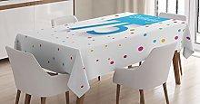 ABAKUHAUS 75th Birthday Tablecloth, Rain with