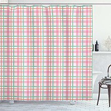 ABAKUHAUS Abstract Shower Curtain, Pastel Colored