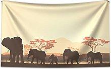 ABAKUHAUS Africa Tapestry, African Wildlife Safari