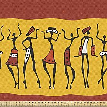 ABAKUHAUS African Fabric by The Yard, Dancing