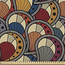 ABAKUHAUS African Fabric by The Yard, Paisley