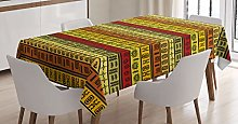 ABAKUHAUS African Tablecloth, Tribal, Dining Room