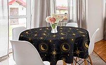 ABAKUHAUS Alchemy Round Tablecloth, Mystic Night