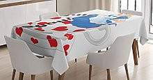 ABAKUHAUS Alice in Wonderland Tablecloth, Alice