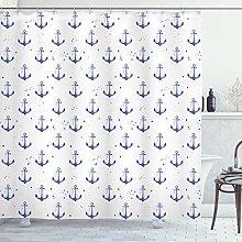 ABAKUHAUS Anchor Shower Curtain, Aquarelle Anchor