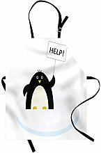 ABAKUHAUS Animal Apron, Penguin on Ice Need Help,