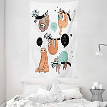 ABAKUHAUS Animal Tapestry, Cartoon Style