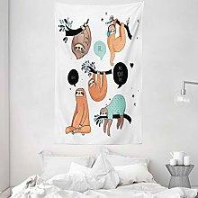 ABAKUHAUS Animal Tapestry, Cartoon Style