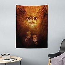 ABAKUHAUS Animal Tapestry, Hawk Eagle Bird Face