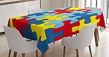 ABAKUHAUS Autism Tablecloth, Design Symbolizing
