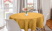 ABAKUHAUS Batik Round Tablecloth, Contemporary