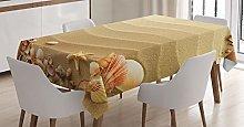 ABAKUHAUS Beach Tablecloth, Nautical Composition
