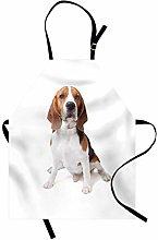 ABAKUHAUS Beagle Apron, Beagle Dog Posing Loving
