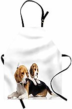 ABAKUHAUS Beagle Apron, Cute Family with Mother