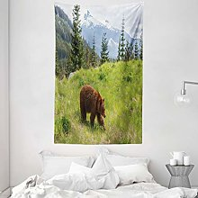 ABAKUHAUS Bear Tapestry, Wildlife up in the