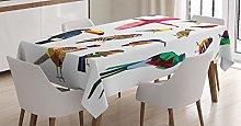 ABAKUHAUS Birds Tablecloth, Bird Set Poly Design,