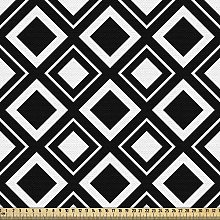 ABAKUHAUS Black and White Fabric by The Yard,