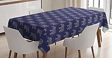 ABAKUHAUS Bohemian Tablecloth, Elephant with