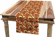 ABAKUHAUS Burnt Orange Table Runner, Retro Design