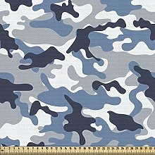 ABAKUHAUS Camouflage Fabric by The Yard,