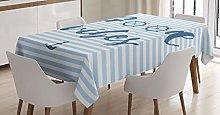 ABAKUHAUS Chill Tablecloth, Nautical Maritime,