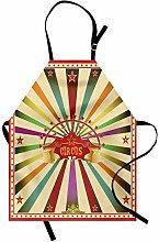 ABAKUHAUS Circus Apron, Invitation Vintage Tent,