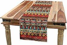 ABAKUHAUS Colorful Table Runner, Aztec Pattern