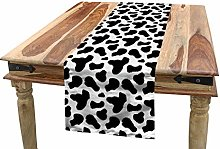 ABAKUHAUS Cow Print Table Runner, Cow Hide Pattern