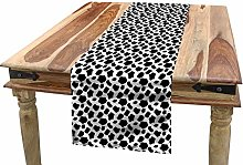 ABAKUHAUS Cow Print Table Runner, Cow Skin with