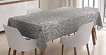 ABAKUHAUS Damask Tablecloth, Royal Paisley