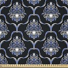 ABAKUHAUS Dark Blue Fabric by The Yard, Vintage