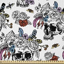 ABAKUHAUS Day of The Dead Fabric by The Yard,