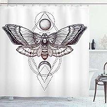ABAKUHAUS Death Moth Shower Curtain, Deadhead