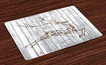 ABAKUHAUS Deer Place Mats Set of 4, Xmas Animal