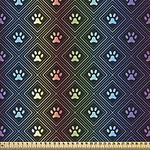 ABAKUHAUS Dog Lover Fabric by The Yard, Paw Print