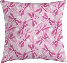 ABAKUHAUS Dragonfly Throw Pillow Cushion Cover,